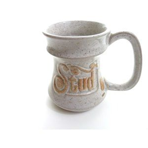 "Vintage ""Stud"" Coffee Mug Pottery Craft USA"